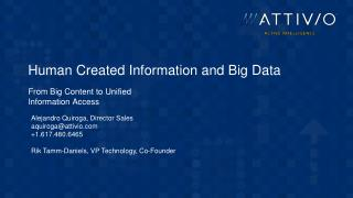 Human Created Information and Big Data