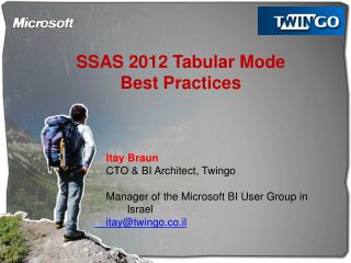 SSAS 2012 Tabular Mode Best Practices