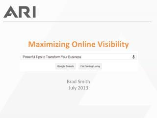 Maximizing Online Visibility