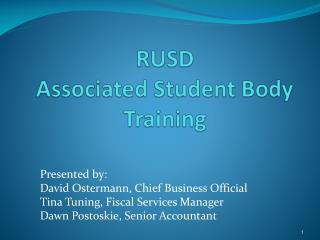 RUSD Associated Student Body Training