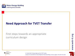 Need Approach for TVET Transfer