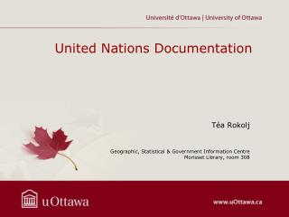 United Nations Documentation