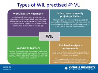 Types of WIL practised @ VU