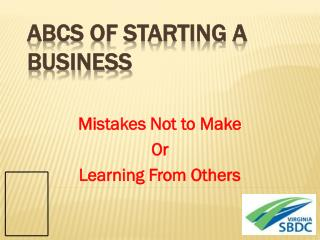 ABCs of Starting a Business