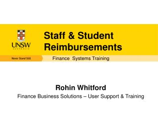 Staff & Student Reimbursements