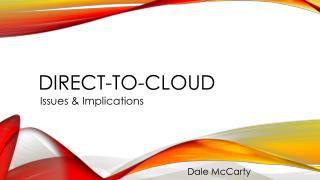 Direct-to-cloud