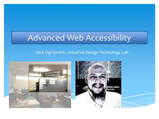 Advanced Web Accessibility
