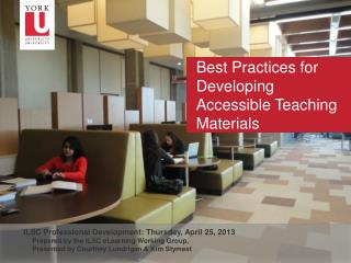 Best Practices for Developing Accessible Teaching Materials