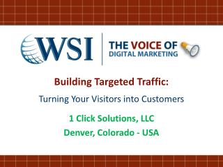 Building Targeted Traffic: