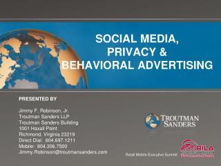 SOCIAL MEDIA,  PRIVACY &  BEHAVIORAL ADVERTISING