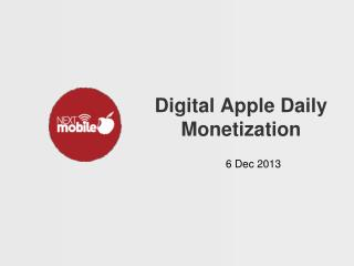 Digital Apple Daily Monetization