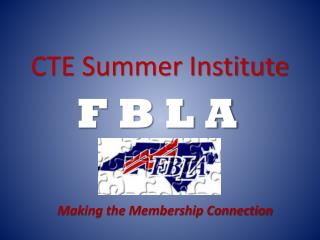 CTE Summer Institute