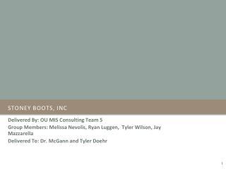 Stoney boots,  Inc