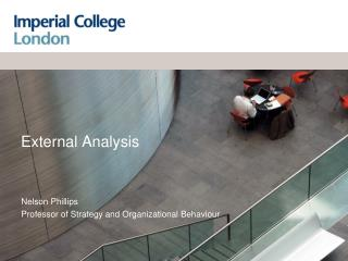 External Analysis