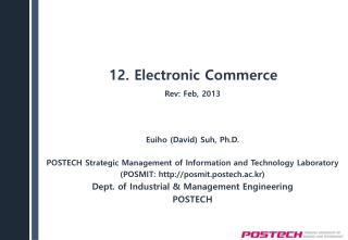 12. Electronic Commerce