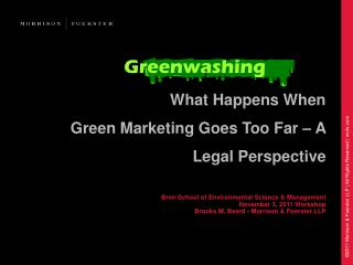 What Happens When Green Marketing Goes Too Far – A Legal Perspective