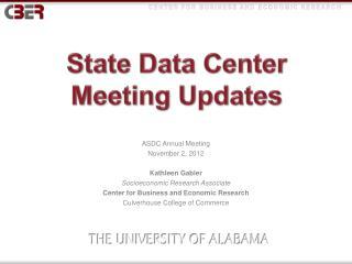 State Data Center  Meeting Updates