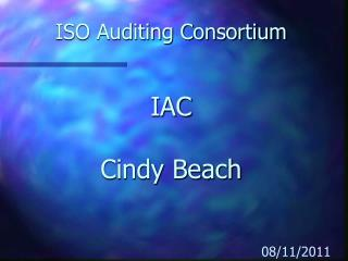 ISO Auditing Consortium IAC Cindy Beach