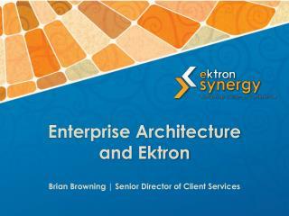 Enterprise Architecture  and Ektron