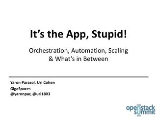 It's the App, Stupid!