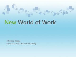 Philippe Rogge Microsoft Belgium &  Luxembourg