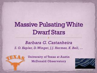 Massive Pulsating White Dwarf Stars