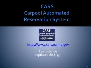 CARS Carpool Automated  Reservation System