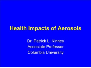 Health Impacts of Aerosols