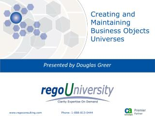 Creating and Maintaining Business Objects Universes