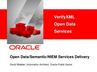 Open Data/Semantic/NIEM Services Delivery