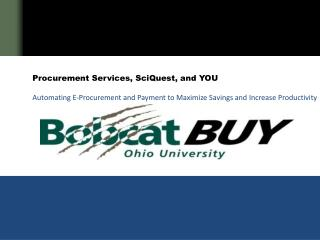 Procurement  Services, SciQuest, and YOU