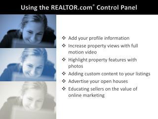 Using  the REALTOR.com � Control  Panel