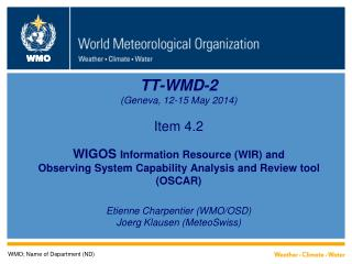 WMO; Name of Department (ND)