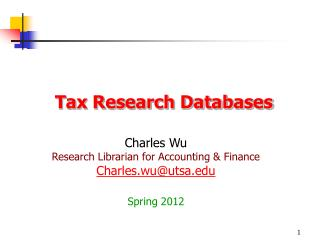 Tax Research Databases