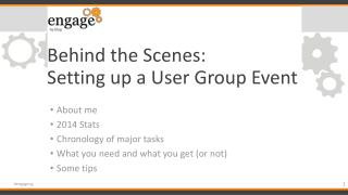 Behind the Scenes: Setting up a User Group Event