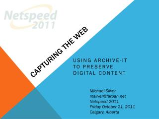 Capturing the Web