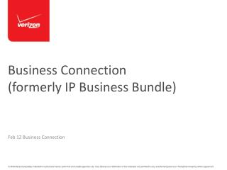 Business Connection  (formerly IP Business Bundle)