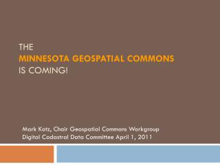 The Minnesota Geospatial Commons is Coming!