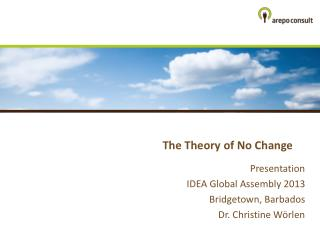 The  Theory of No  Change