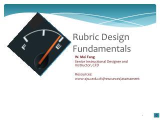 Rubric Design Fundamentals
