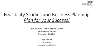 Feasibility Studies and Business Planning Plan for your Success!