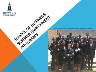 School of business  summer enrichment programs