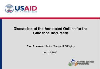 Discussion of the Annotated Outline for the Guidance Document