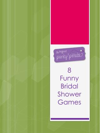 8  Funny Bridal Shower Games