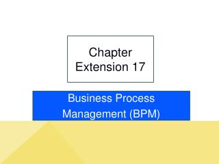 Chapter Extension 17