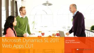 Microsoft  Dynamics  SL 2011 Web Apps CU1