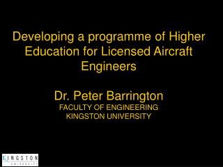 Developing a programme of Higher Education for Licensed Aircraft ...