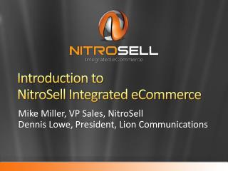 Introduction to  NitroSell Integrated eCommerce