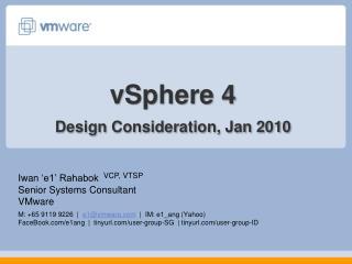 vSphere  4 Design Consideration, Jan 2010