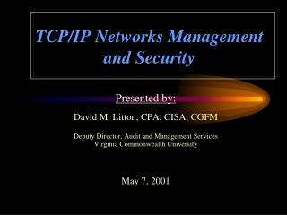 TCP/IP Networks Management and Security